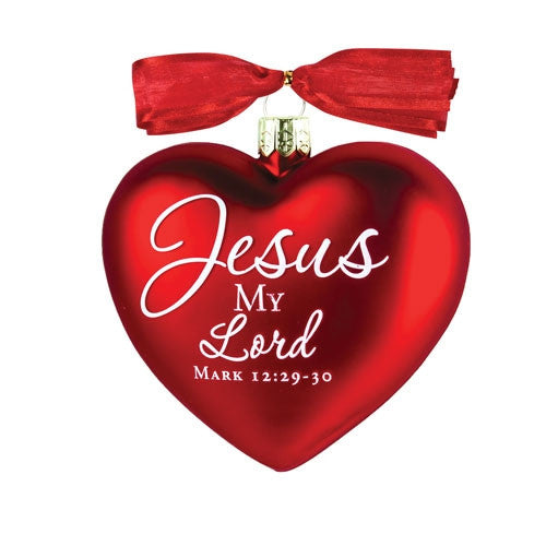 Heart of Christmas ornament - Jesus My Lord