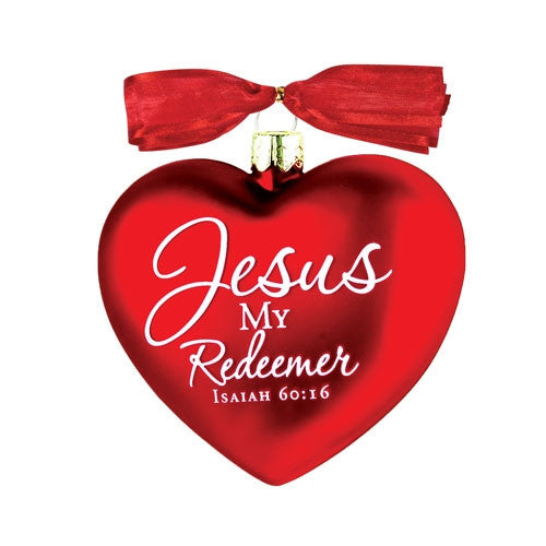 Heart of Christmas ornament - Jesus My Redeemer