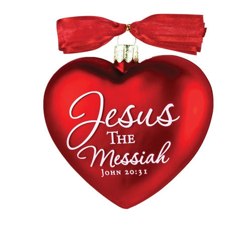 Heart of Christmas ornament - Jesus the Messiah