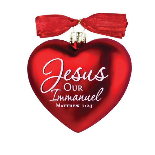 Heart of Christmas ornament - Jesus Our Immanuel