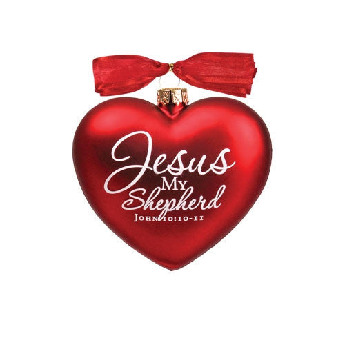 Heart of Christmas ornament - Jesus My Shepherd
