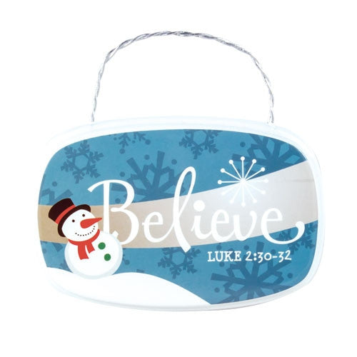 Plaque Ornament - Believe