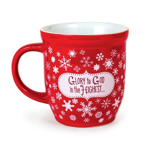 Snowflake Christmas Mug - Glory To God