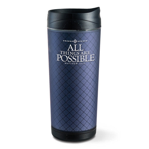 Frosted Tall Tumbler - All Things Are Possible