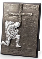 Kneeling Soldier - prayer plaque