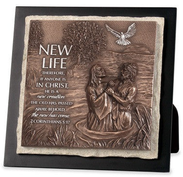 New Life - plaque