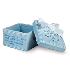 A Child of God - keepsake box - blue