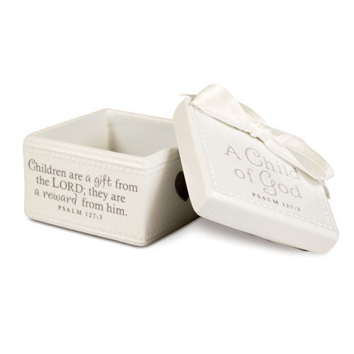 A Child of God - keepsake box - cream