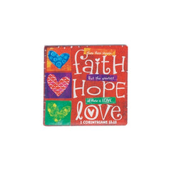 Color Block Series - Faith Hope Love magnet