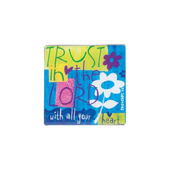 Color Block Series - Trust in the Lord magnet