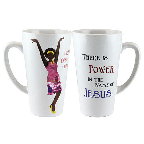 Power in the name of Jesus - latte mug
