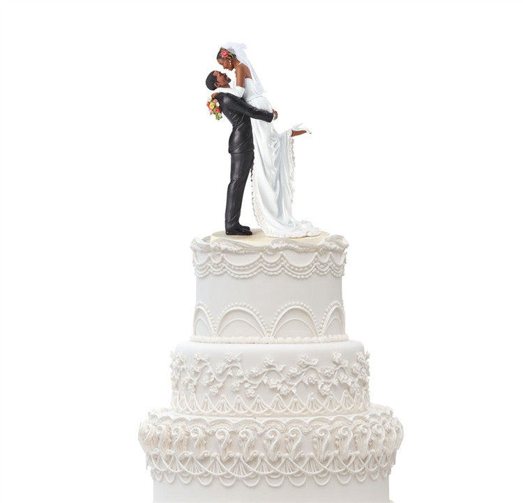 Forever One Cake Topper - Ebony Visions figurine