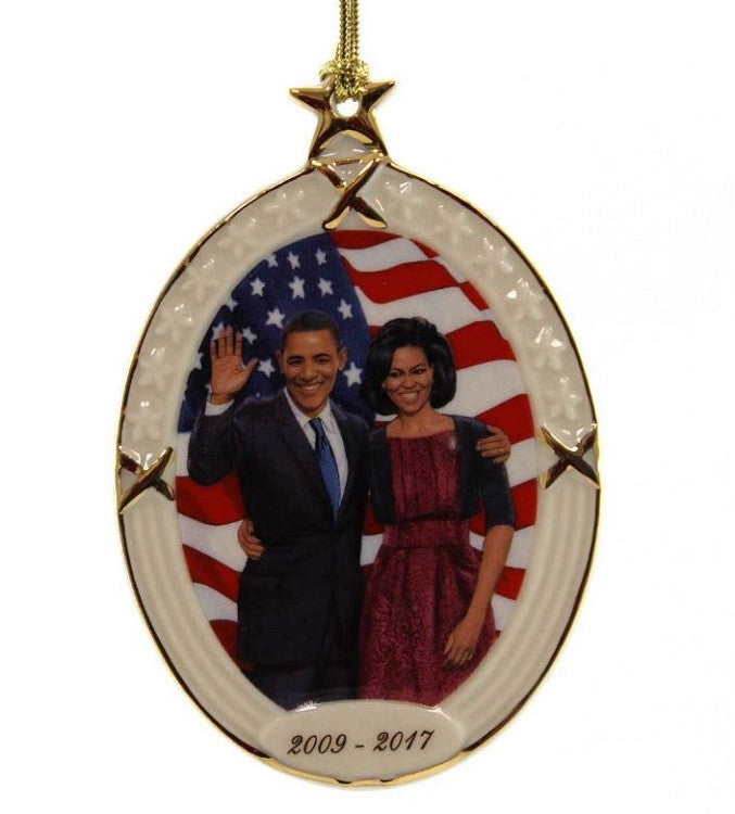 President Obama and First Lady - Ebony Visions - porcelain ornament