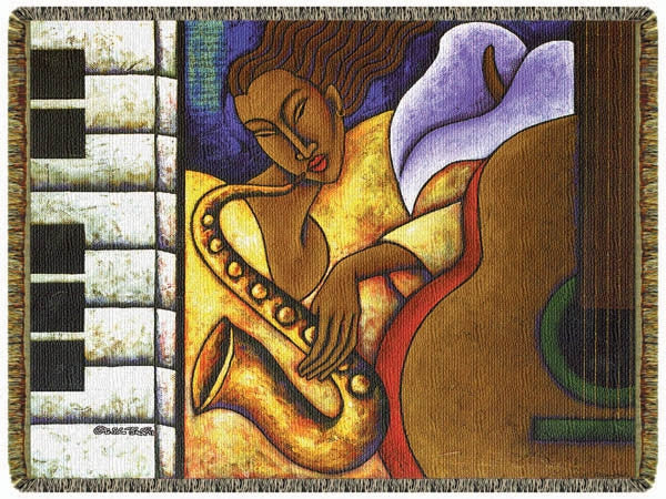 Night Groove - by LaShun Beal - tapestry throw