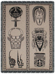 African Masks - tapestry throw