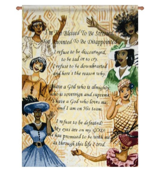 Too Blessed Poem - 26x36 wall hanging