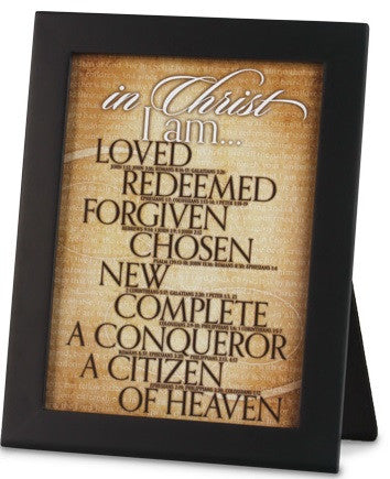 In Christ I Am - desk plaque