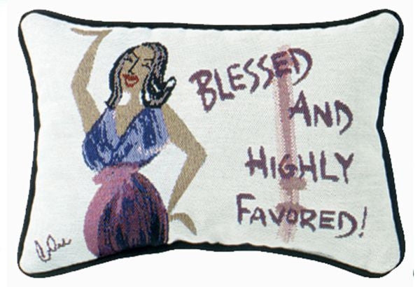 Blessed and Highly Favored - Cidne Wallace - pillow