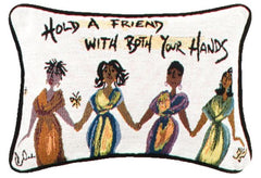 Hold a friend - Cidne Wallace - pillow