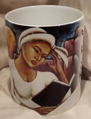 Deep In Thought mug - by LaShun Beal