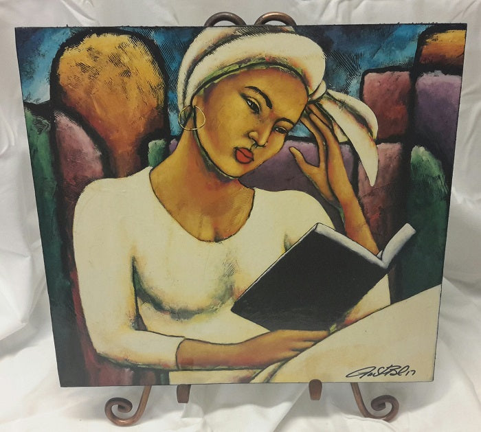Deep In Thought plaque - by LaShun Beal