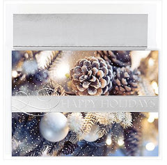 Traditional Christmas Cards - Festive Pinecones - MPS-M1145MB