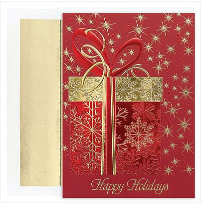 Traditional Christmas Cards - Glittering Gift - MPS-M1269MB
