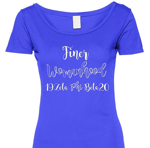Zeta Phi Beta t-shirt - finer womanhood