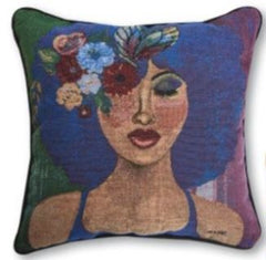 Blue Ivory - throw pillow