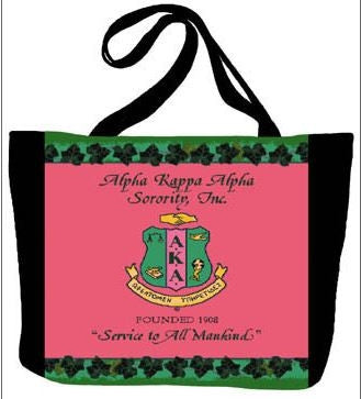 Alpha Kappa Alpha handbag - pink canvas totebag