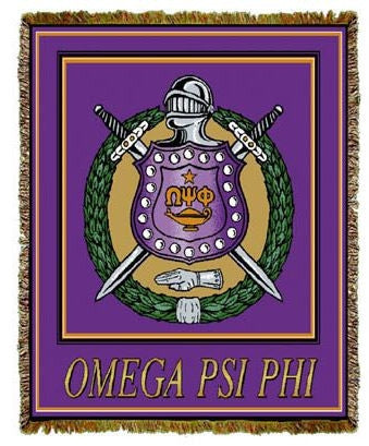 Omega Psi Phi tapestry - cotton throw - purple - MILL