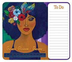 Memo mousepad - Believe, Blossom and Become - Gbaby