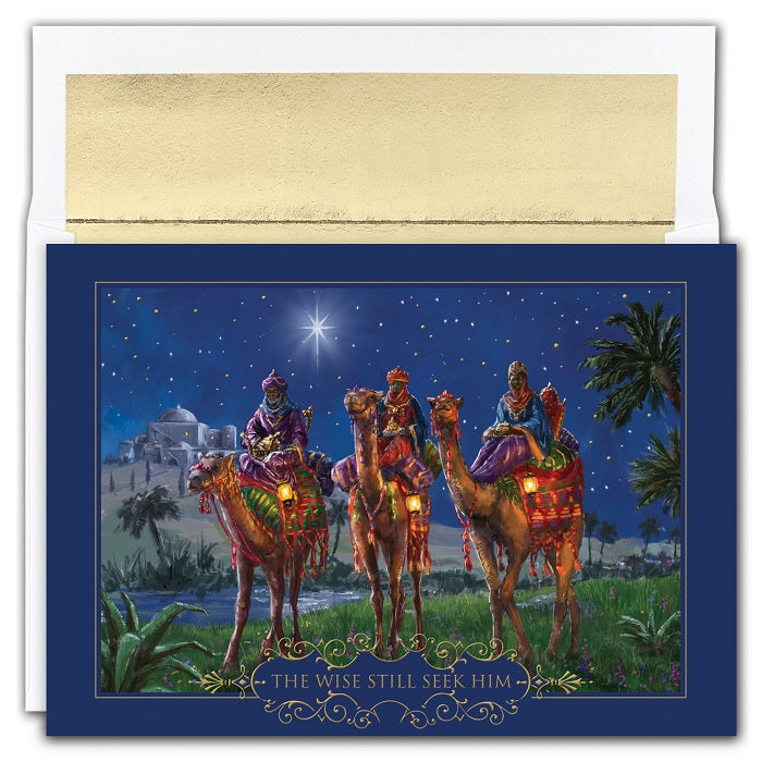African American Christmas Cards - Wisemen at Night - MPS-857800
