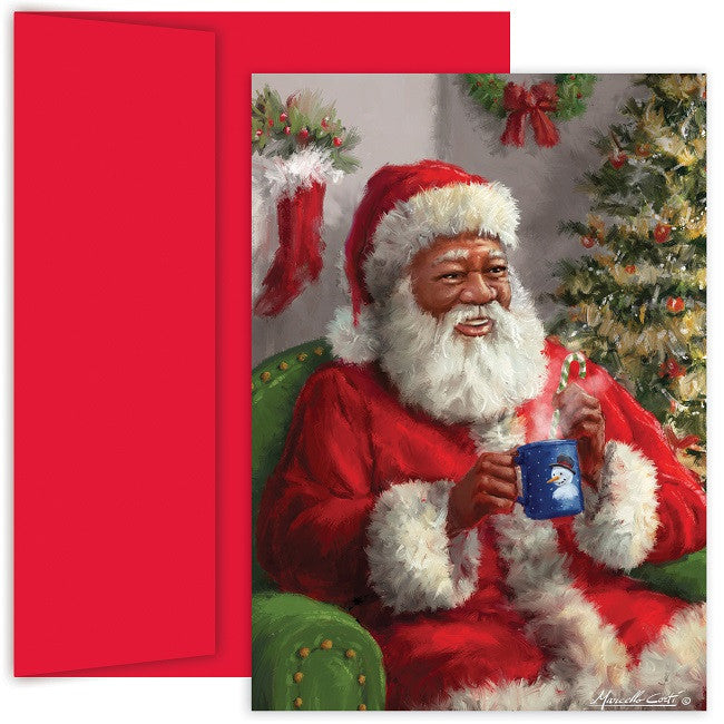 african american christmas cards santa warm up mps 887700