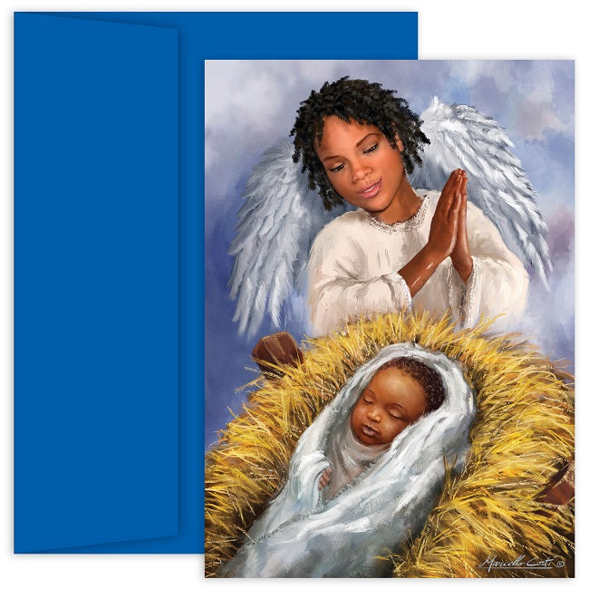 african american christmas cards mps 903900 - Black Christmas Angels