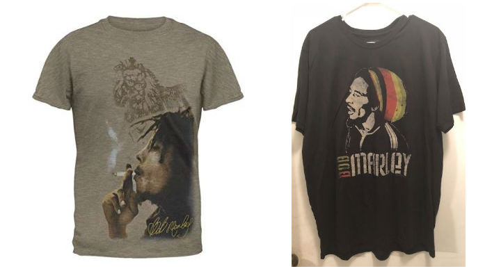 Bob Marley t-shirts - Smoke Side-Rasta - 2X