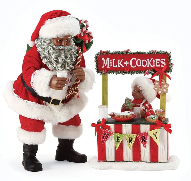 Merry Bake Sale - Black Santa figurine