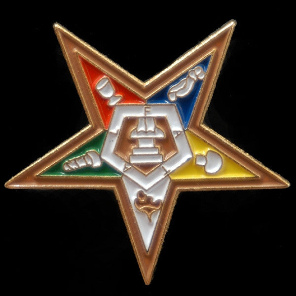 Eastern Star lapel pin - OES star
