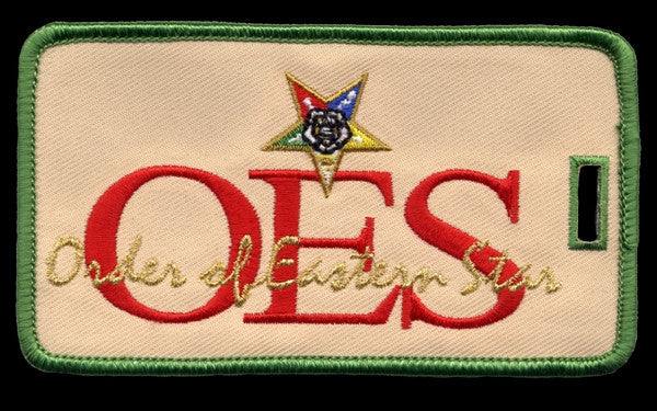 Eastern Star luggage tag - OES signature