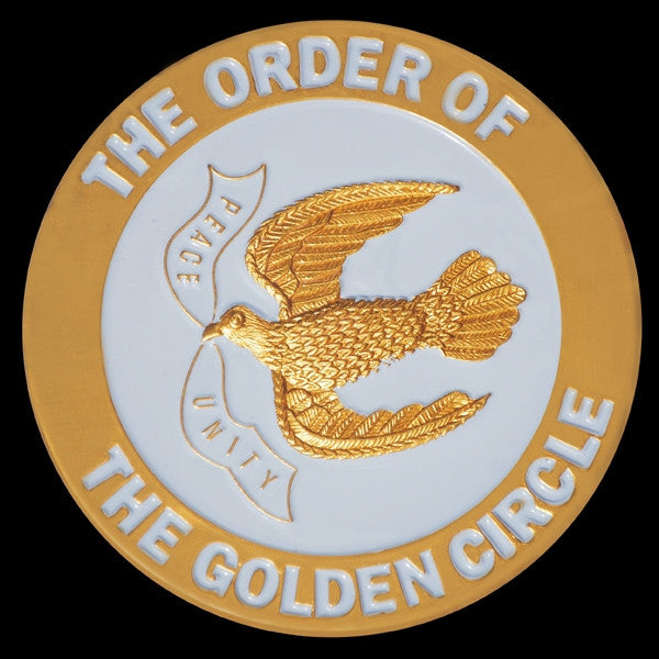 Order of the Golden Circle - 3-D stamped car tag