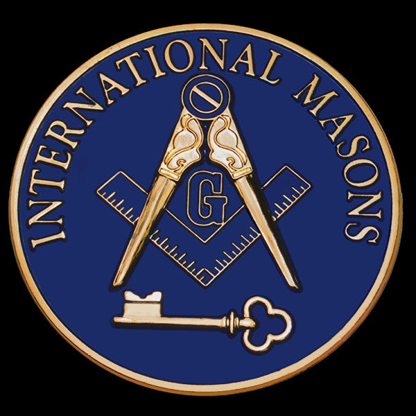 Mason car emblem - International Masons 3-D stamped