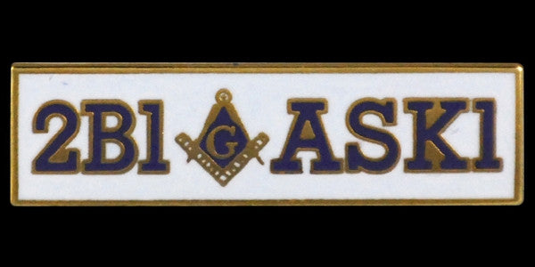 Mason lapel pin - 2B1-ASK1