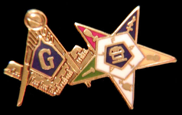 Eastern Star lapel pin - Mason-OES