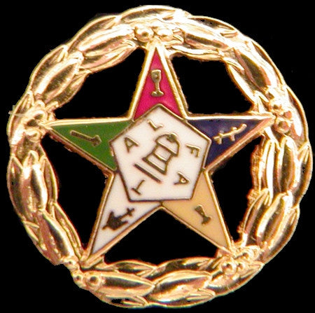 Eastern Star lapel pin - circle star