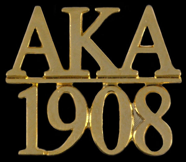 Alpha Kappa Alpha lapel pin - chapter bar - gold