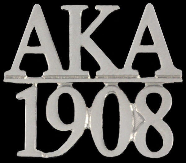 Alpha Kappa Alpha lapel pin - chapter bar - silver