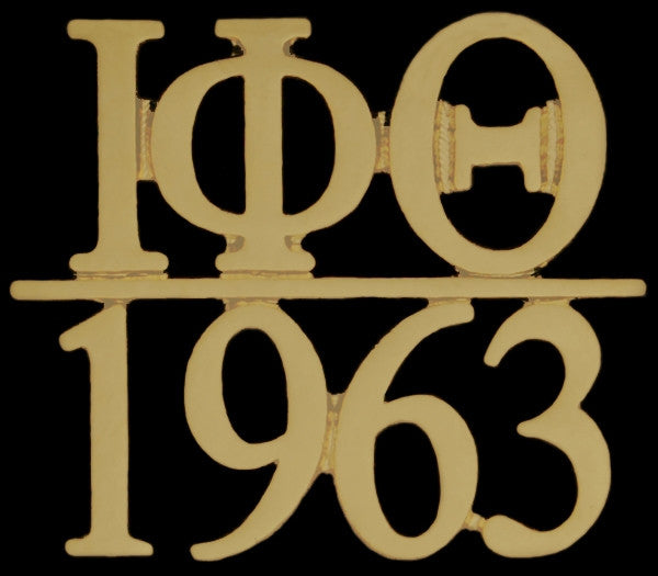 Iota Phi Theta lapel pin - chapter bar - gold