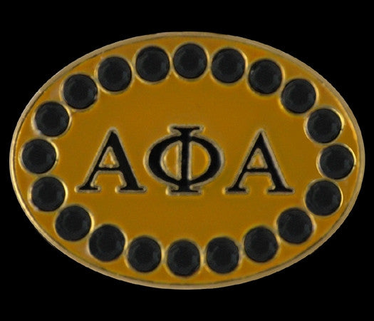 Alpha Phi Alpha cuff links with Swarovski crystals