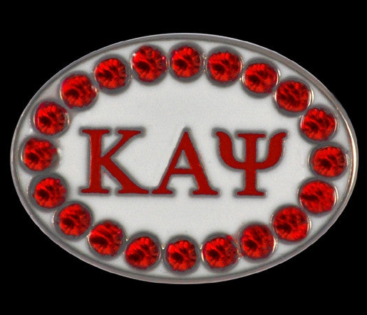 Kappa Alpha Psi cuff links with Swarovski crystals