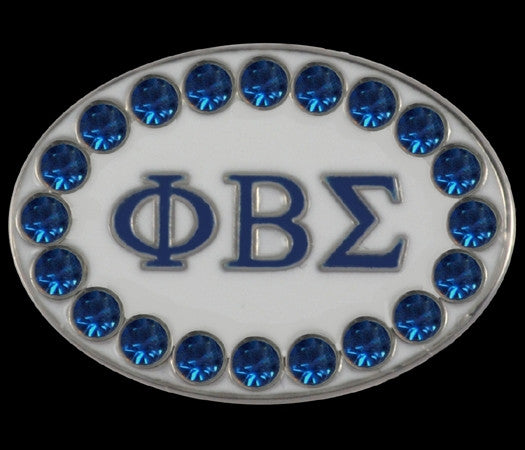 Phi Beta Sigma cuff links with Swarovski crystals